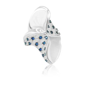 Modern Design Women's Ring Inlaid With Sapphire
