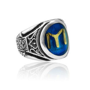 Kayi Tribe Model In blue Mina Stone 925 Sterling Silver