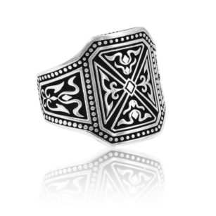 Hand Crafted Men's Ring 925 Sterling Silver