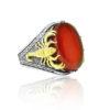 "Red Yemeni Agate Stone 925 Sterling SILVER ""HANDMADE"""