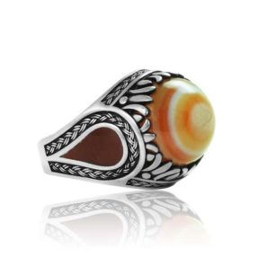 """Natural Soleimani  Agate Stone 925 Sterling Silver Ring  """"HANDMADE"""""""