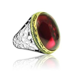 """Special Design Ruby Stone 925 Sterling Silver Ring  """"HANDMADE"""""""