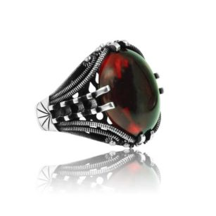 "Special Design Ruby Stone 925 Sterling Silver Ring  ""HANDMADE"""