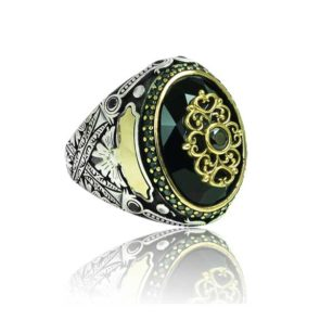 Special Design Black Zircon Stone Inlaid With Black Stone 925 Sterling Silver Ring